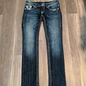 Vigoss straight leg dark wash jeans 26